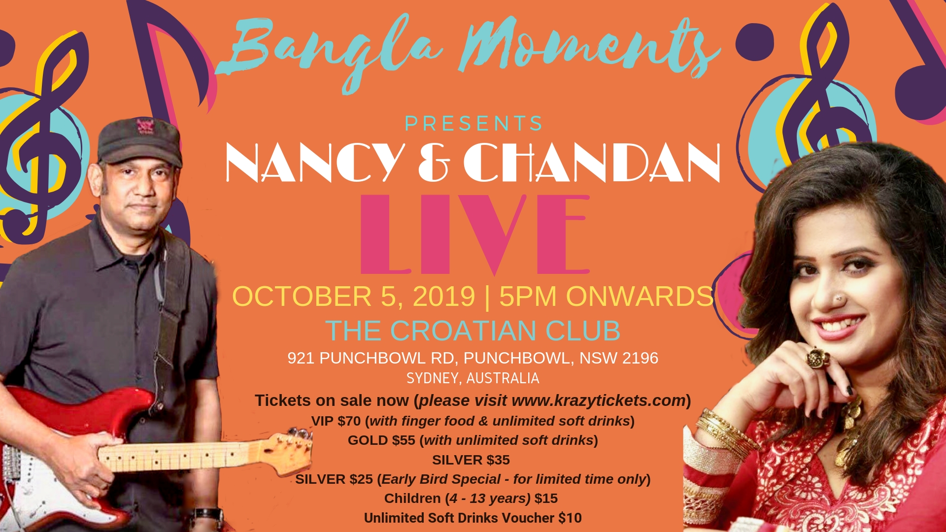 Nancy and Chandan Live in Sydney